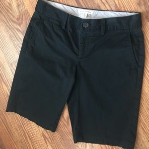 Banana Republic Black Bermuda Stretch Shorts